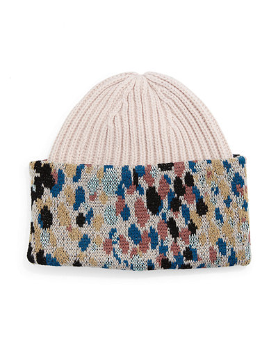 Knit Speckled Cuff Hat
