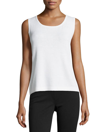 Contour Scoop Neck Tank Bright White