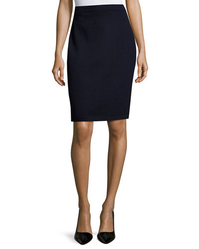 Signature Santana Knit Pencil Skirt