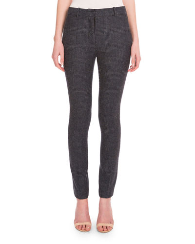 Prince of Wales Check Ankle Pants