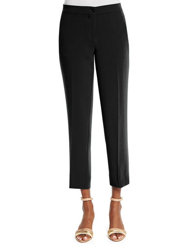 Slim-Fit Cady Capri Pants