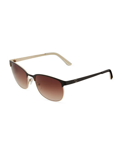 Oval Two Tone Metal Sunglasses
