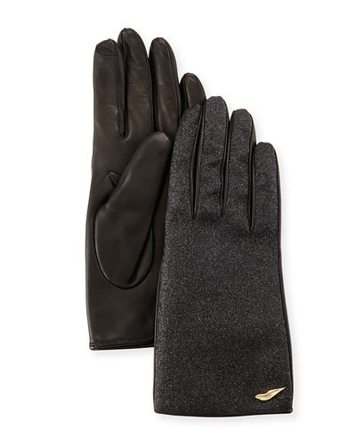 Glitterati Leather Gloves
