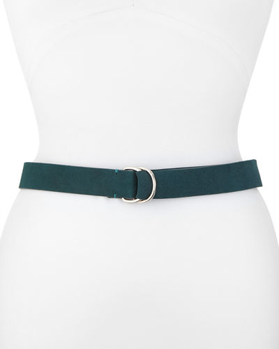 Suede Pull-Through Ring Belt