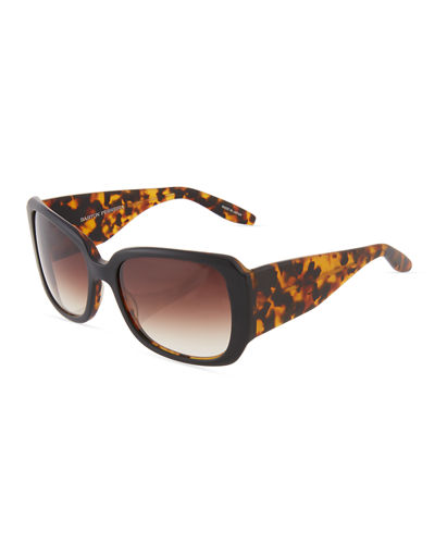 Vreeland Thick Square Plastic Sunglasses