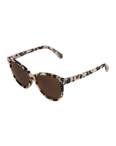 Cat Eye Havana Plastic Sunglasses