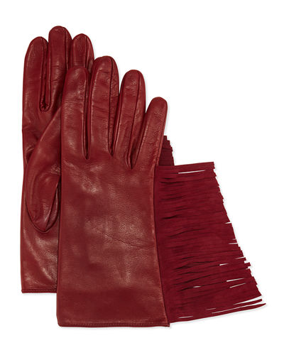 Leather Gloves w/Fringe