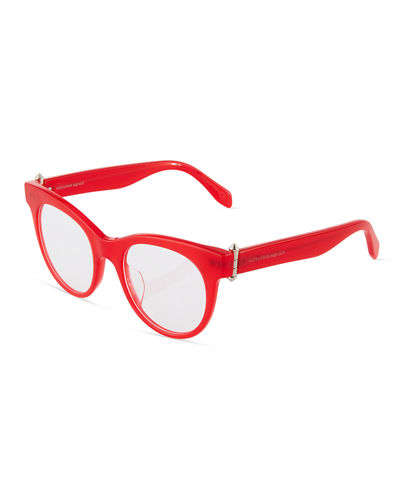 Cat-Eye Plastic Eyeglasses