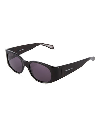 Plastic Oval Wraparound Sunglasses