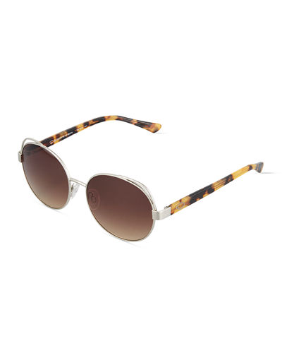 Duo Tone Modified Round Combo Sunglasses