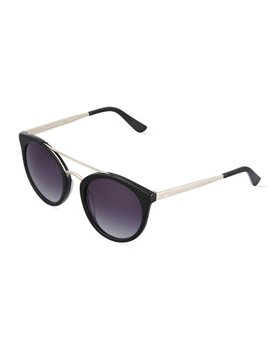 Duo Tone Retro Round Combo Sunglasses