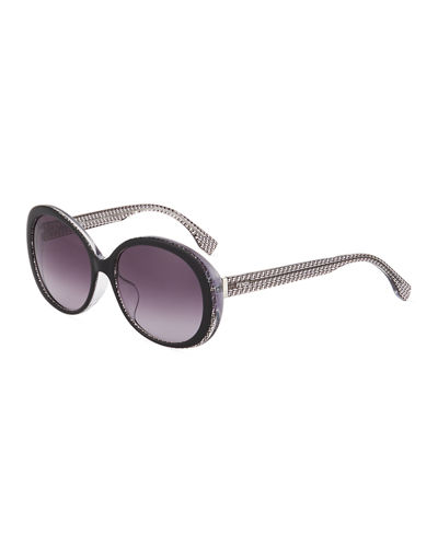 Modified Round Plastic Sunglasses