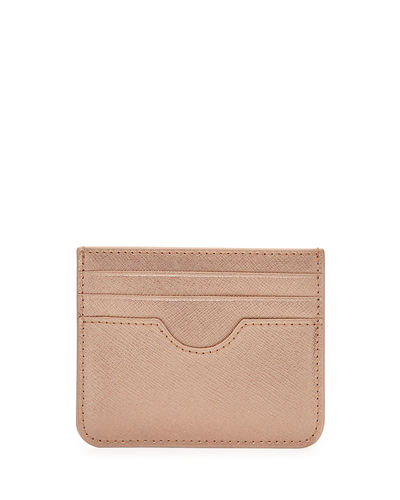 Saffiano Leather Small Card Case
