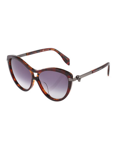 Cat-Eye Aviator Plastic Sunglasses