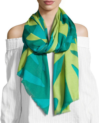 Graphic Palm Tree Scarf