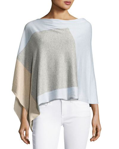Colorblock Cotton-Blend Two-Way Topper