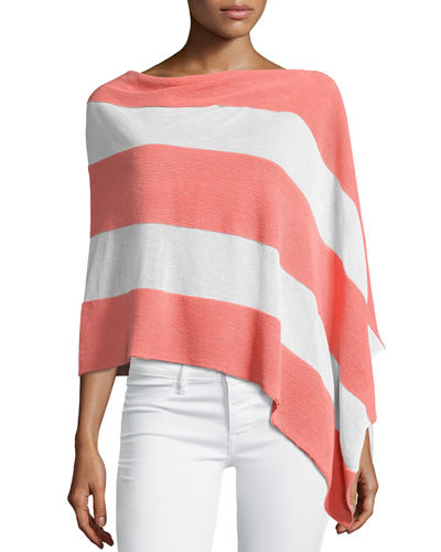 Striped Linen-Blend Two-Way Topper
