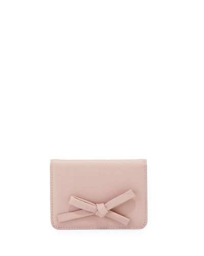 Bow Bi-Fold Snap Card Case