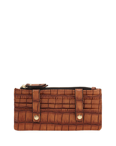 Crocodile-Embossed Slim Organizer