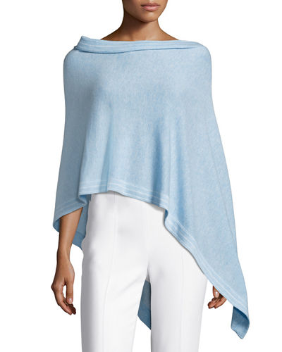 Cashmere Top-Stitch Two-Way Topper