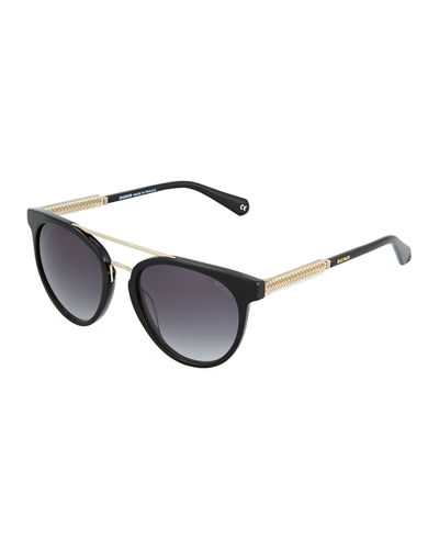 Marbled Cat-Eye Plastic Sunglasses