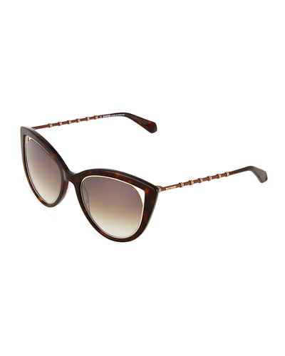 Two-Tone Cat-Eye Sunglasses