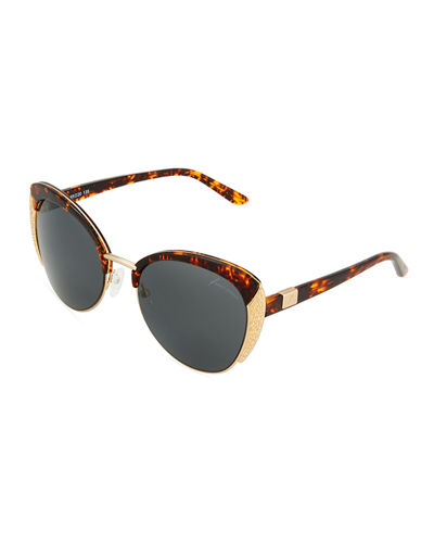 Cat-Eye Tortoise Sunglasses
