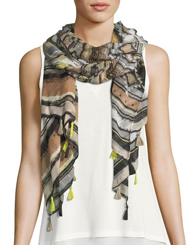 Into the Desert Tasseled Scarf