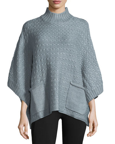 Lennox Knit Pocket Poncho