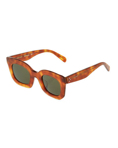 Havana Square Acetate Sunglasses