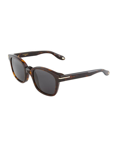 Square Acetate Opaque Sunglasses