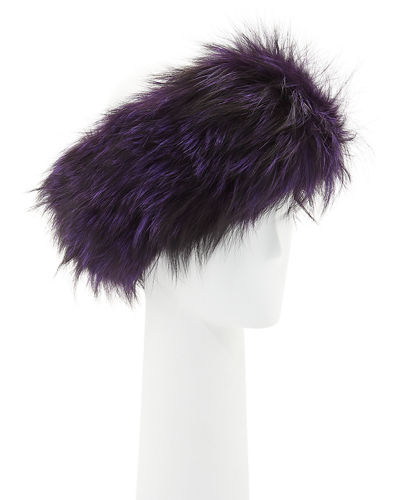 Fur Knitted Headband