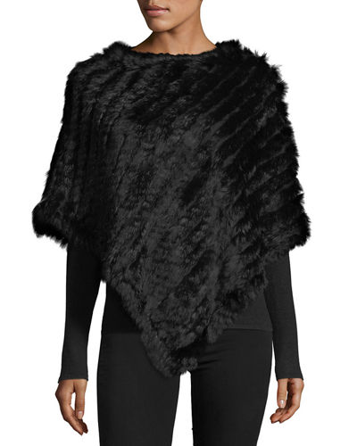 Rabbit Fur Poncho Top