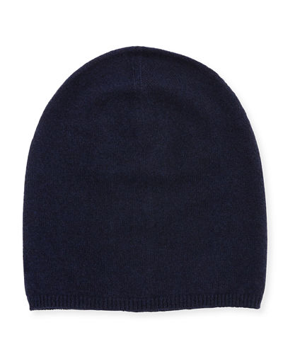 Cashmere Solid Slouch Knit Hat
