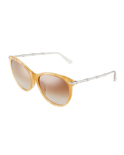 Round Cat-Eye Combo Sunglasses
