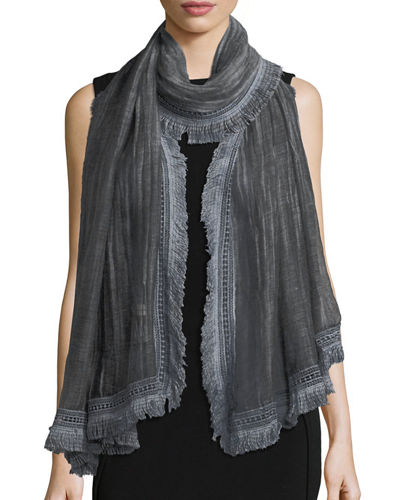 Lace-Trim Sheer Scarf