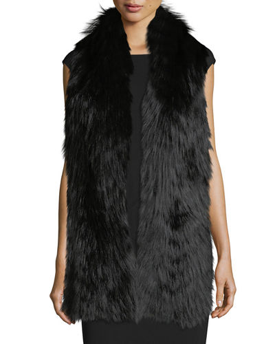 Silver Fox Fur Feathered Boa