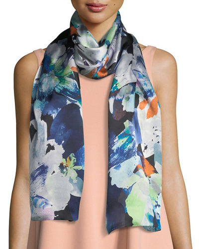 Floral Photo Clash Oblong Scarf