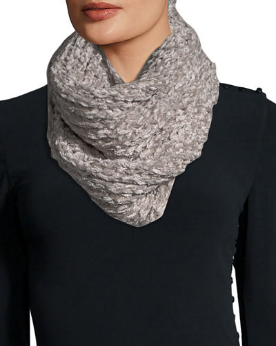 Chenille Knit Loop Infinity Scarf
