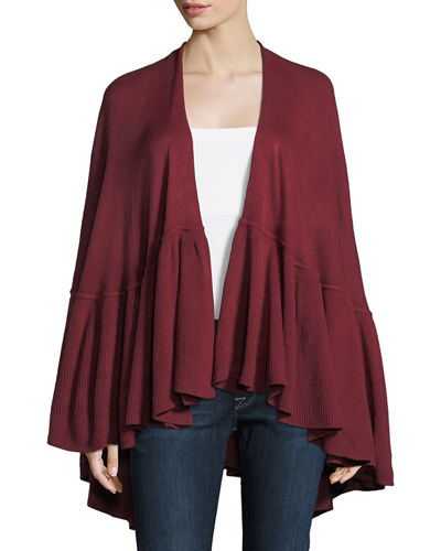 Ruffled Cape Cardigan