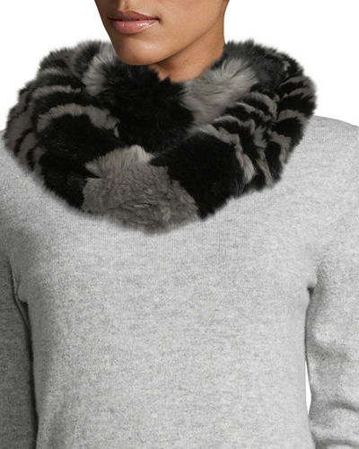 Fur Two-Tone Infinity Scarf
