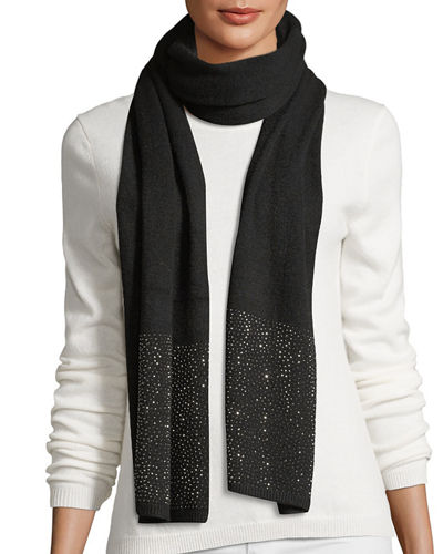 Crystal Studded Wrap Scarf