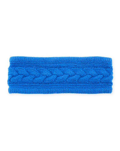 Cashmere Cable-Knit Headband