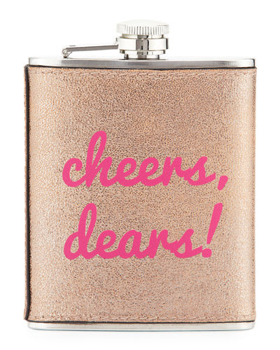 Boxed Faux-Leather Flask