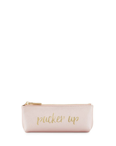 Pucker Up Pencil Case, Black