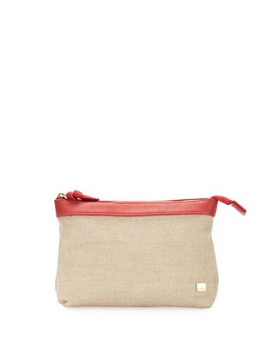 Marseille Linen Zip Top Pouch