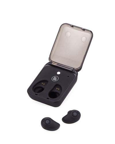 ECHELON True Wireless Stereo Earbuds w/Charging Case, Black