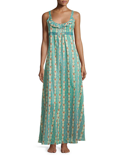 Circe Floral-Print Long Gown