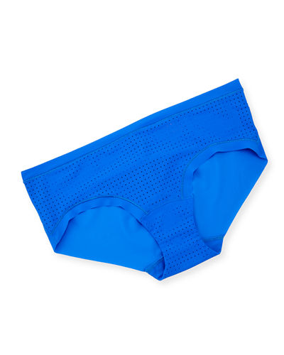 Perforated Microfiber Bikini Briefs
