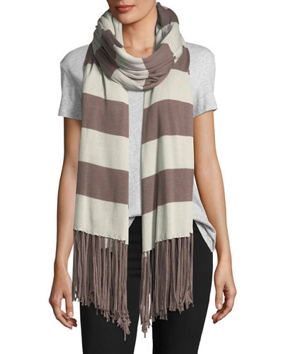 Striped Fringe Cardigan Wrap